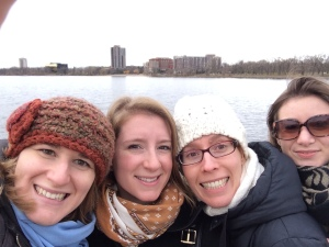Leadership Team Selfie! Melissa Small, Rebecca Bar, Emily Celano and Laura Teicher explore Minneapolis.