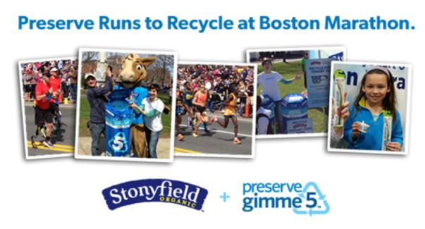 Boston Marathon Recycling