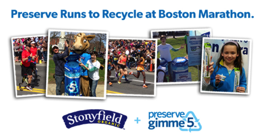 Boston Marathon Recycling